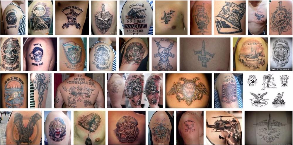 Какие бывают армейские татуировки