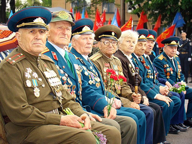 Ветераны 9 мая на параде Великой Отечественной войны