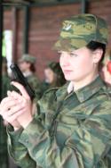 Женщины в российской армии, фото со стрельбища
