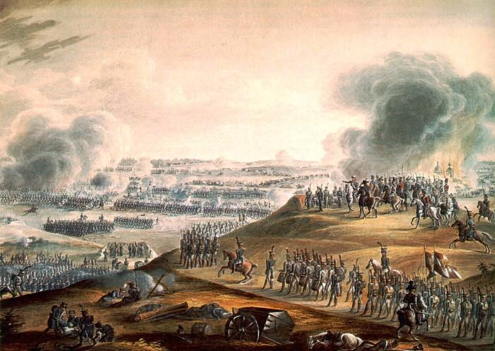 Бородинская битва. На артиллерийской позиции.
