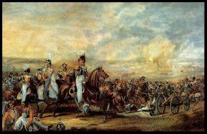 Бородинская битва. Кавалерийская атака генерала Ф. П. Уварова.
